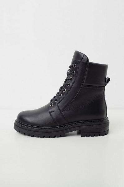 Шкіряні черевики високі чорні