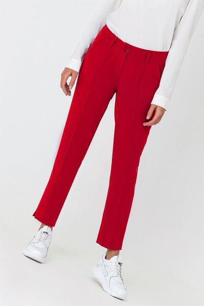Красные брюки классические со стрелкой