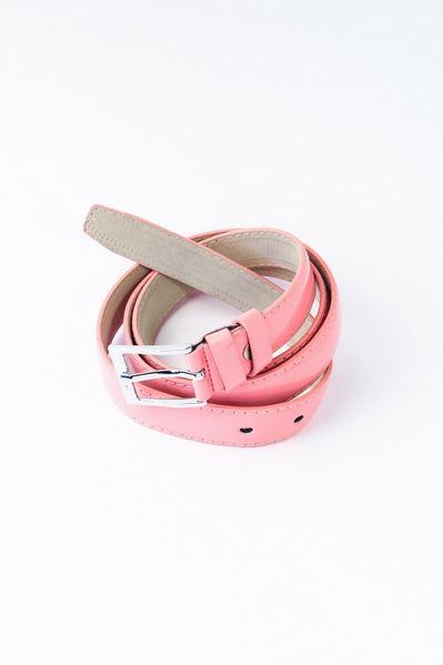 Ремень лакированный розовый