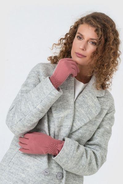Розовые перчатки на резинке