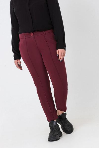 Классические брюки марсала со стрелкой большой размер