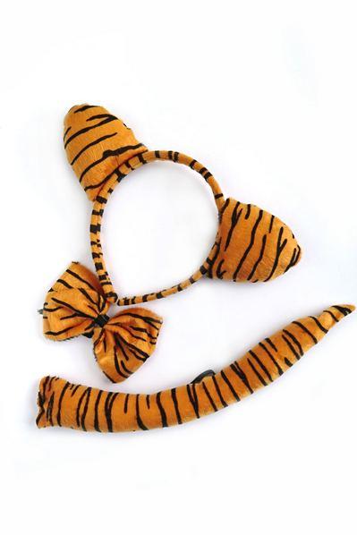 Обруч с бабочкой и хвостом тигр