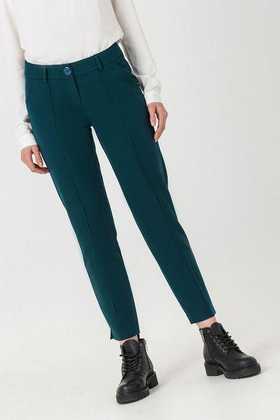 Классические брюки со стрелкой изумрудные