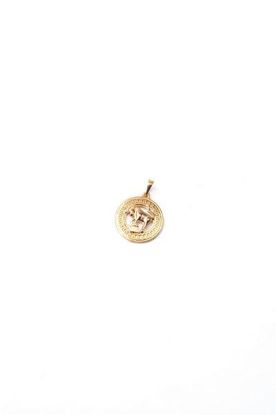 Кулон со знаком зодиака Телец золотистый