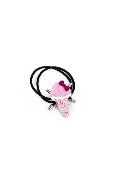 Резинка для волос с декоративным рожком мороженого в ассортименте