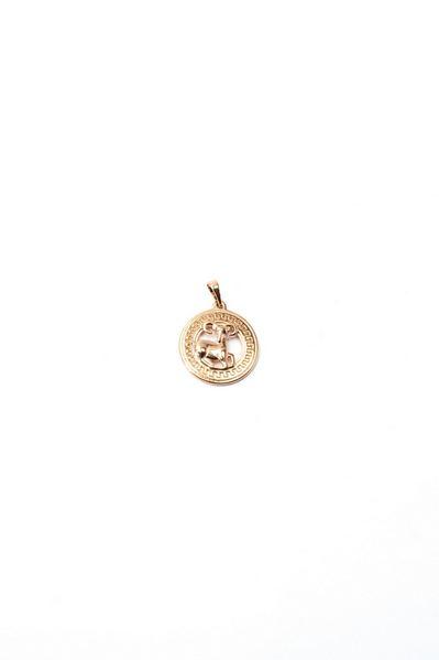 Кулон со знаком зодиака Овен золотистый