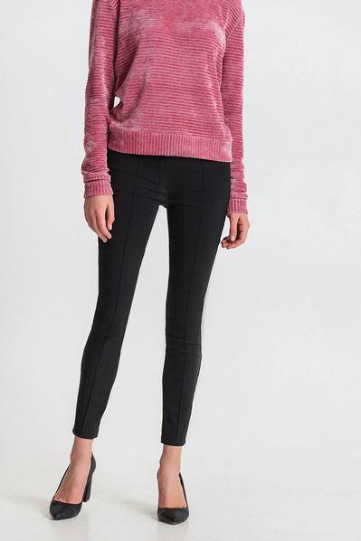 Узкие брюки черные с отстроченными стрелками