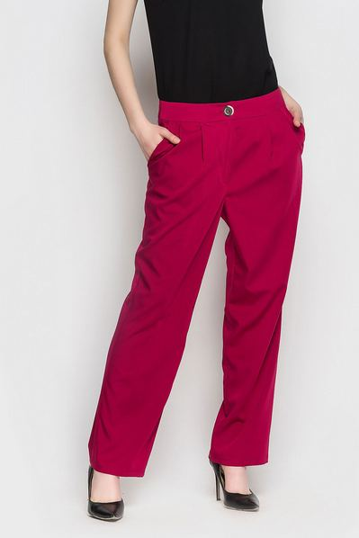 Красные брюки со складками