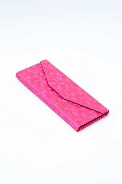 Чехол для очков с тиснением милитари розовый
