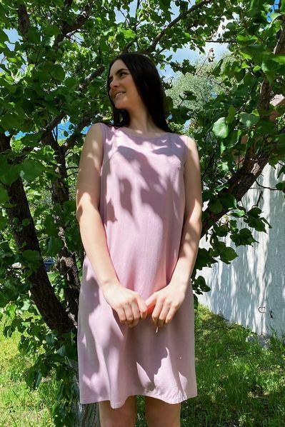 Платье майка до колен фрезовое