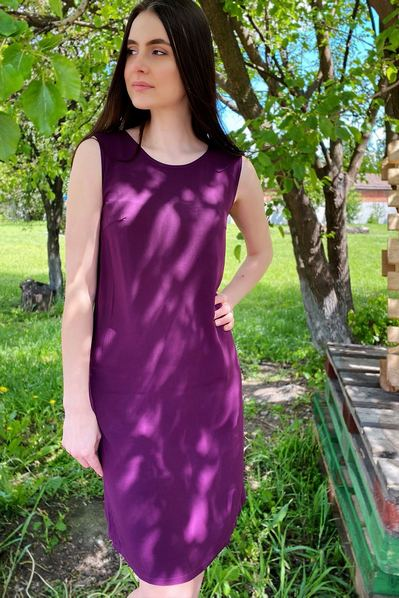Платье майка цвета чорной смородины