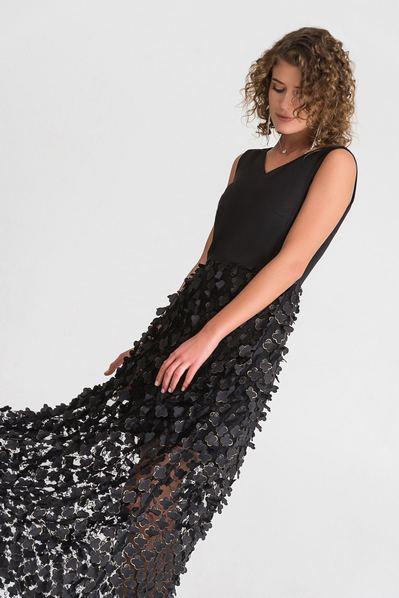 Длинное платье черное цветы на сетке