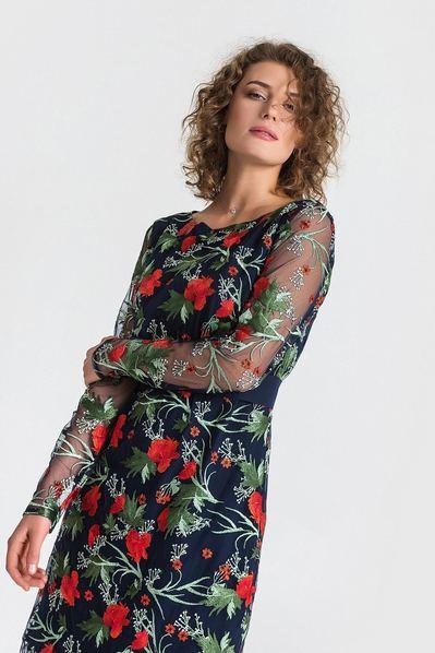 25d4e2bb867c35 Купить черное платье с вышивкой в интернет магазине VOVK