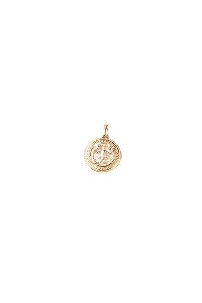 Кулон со знаком зодиака Рак золотистый
