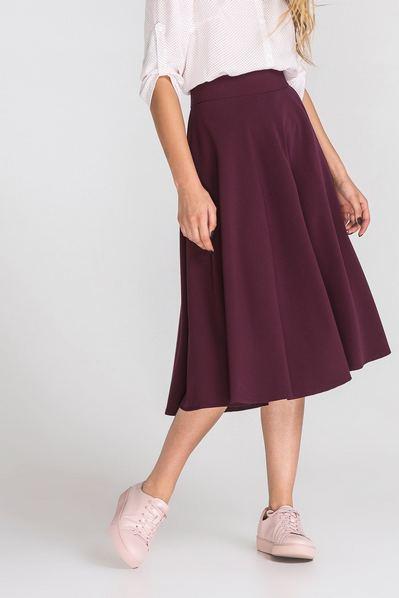 Бордовая юбка полусолнце
