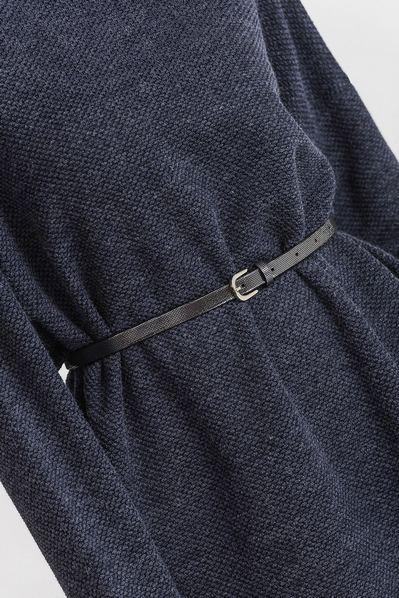 Кожаный ремень женский с серебристым напылением