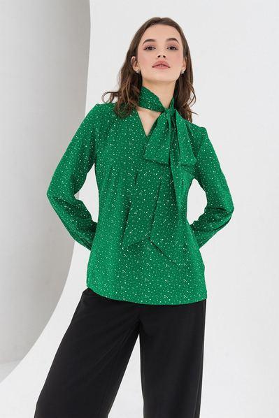 Травяная блузка с завязкой из софта